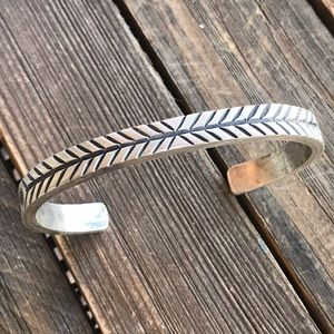 Jewelry - Navajo Sterling Silver Hand Stamped Bracelet Cuff